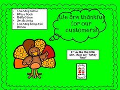 Thanksgiving--Turkey Freebie from KiddosConnect on TeachersNotebook.com -  - This freebie is 2 games focusing on reading literacy (CVC words) and math (graph). The games will reinforce skills in a FUN format!