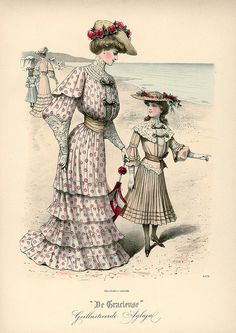Late 1800s Seaside Fashions