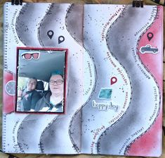 It is time for new challenge with CY! Now you must use black and white + red! I made my page on Traveler´s No. Heidi Swapp, Ferret, Atc, Embellishments, Stencils, Studios, Challenges, Team Member, Black And White
