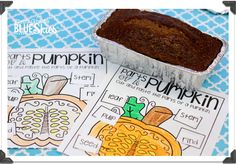 We started the week off with homemade pumpkin bread and labeling..the page is from Lyndseys (A...