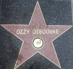 Ozzy Osbourne Star, Hollywood Hollywood Walk Of Fame, Hollywood Stars, Rockstar Tattoo, You Are My Superhero, Ozzy Osbourne, Music People, California Dreamin', Black Sabbath, Hard Rock
