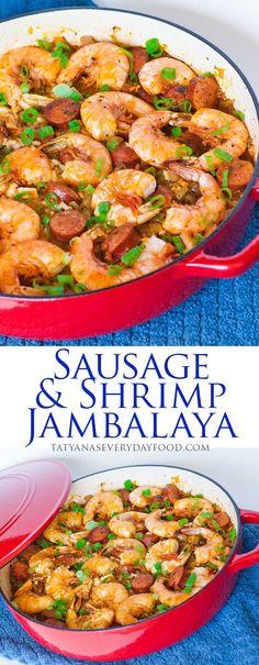 Sausage and Shrimp Jambalaya with video recipe by Tatyana's Everyday Food