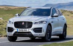 Jaguar F-Pace driving, front