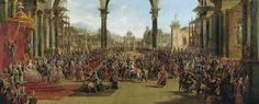 El palacio del Sol, de la ópera decorada por Battaglioli. La aparición de los coliseos musocales italianos, que revolucionaron las casas o corrales de comedias, quizá se origina en la representación de las primeras óperas a finales del siglo XVI. Hubo entonces que distinguir entre un teatro literario y otro musical, además el literato parecía destinarse desde entonces a las clases burguesas y populares, y la opera a la aristocracia
