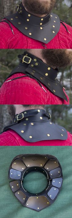 Other Combat Sport Clothing 73988: Brigantine Gorget Delivers Great Rapier Armor For Cut And Thrust Sca/Wma Combat -> BUY IT NOW ONLY: $134 on eBay!