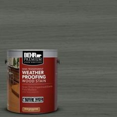 1-gal. #ST-131 Pewter Semi-Transparent Weatherproofing Wood Stain