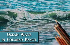 I'm going to show you my layering process for drawing ocean waves in colored pencil. See how easy it is to blend your pencils using odorless mineral spirits with Polychromos, Caran d'Ache Luminance and Procolour colored pencils. I'm working on Fabriano Artistico extra white Hot Pressed 140lb watercolor paper. My fine white details are being …