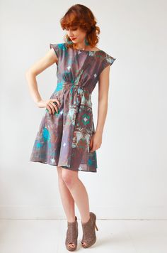 custom design cotton voile fabric in a Monday Meeting Dress.