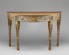 1782-1792 Italian (Piedmont) Console table at the Metropolitan Museum of Art, New York