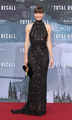 Jessica Biel in ELIE SAAB Ready-to-Wear Fall 2012-13 at the 'Total Recall' Premiere in Berlin.