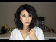 How To Curl Short Lob Hair Style - YouTube