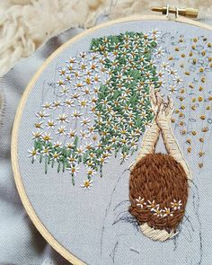 """6,283 Likes, 37 Comments - ⚪ ⚪Вышивка (@handmade.embroidery) on Instagram: """"@chloejodesigns _____ #вышивка #вышиваю #вышивкагладью #embroidery #handembroidery #embroideryart…"""""""