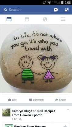 """Painting rocks or easy painted rock ideas with positive messages is something I love to do! Hand painted river rocks in various themes, colors, patterns and positive sayings. Perfect for gifts or to """"artfully abandon"""" to brighten someone's day. Pebble Painting, Pebble Art, Stone Painting, Diy Painting, Painting Quotes, Stone Crafts, Rock Crafts, Art Crafts, Yeux Halloween"""