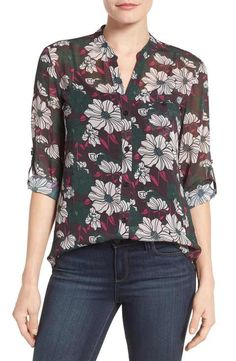 KUT from the Kloth Floral Print Blouse