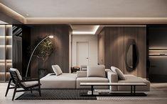 The Urban apartment - Dezign Ark (Beta) Luxury Interior, Room Interior, Interior Architecture, Kitchen Interior, Urban Apartment, Family Apartment, Home Living Room, Living Room Designs, Living Room Decor
