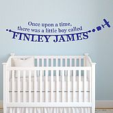 Personalised Boy's Name Wall Sticker - new baby gifts