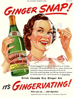 Canada Dry Ginger Ale Ad, 1939