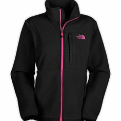 North face Black northface with pink zipper and lettering North Face Other