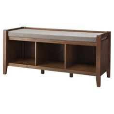 Open storage bench: great for next to the front door.