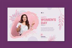 International women day banner | Free Vector #Freepik #freevector Happy Woman Day, Happy Women, Womens Day Theme, Mother's Day Theme, Mother's Day Banner, Banner Template, Ladies Day, Vectors, Vector Free