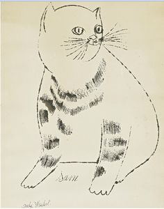 Andy Warhol's Cat Sam㊗️ART AND IDEAS : More At FOSTERGINGER @ Pinterest  ㊙️㊗️
