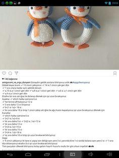 Cute Crochet, Crochet Dolls, Crochet Hats, Crochet Bear Patterns, Amigurumi Patterns, Chinese Patterns, Baby Rattle, Animals For Kids, Fun Projects