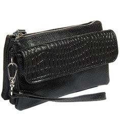 Clutch wristlet bag Genuine leather crocodile bag Free shipping 2016 NEW Large capacity strap Women Shoulder bags purse LD534 www.bernysjewels.com #bernysjewels #jewels #jewelry #nice #bags