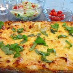 LASAGNE !!! Saftig og god ! - HA-bloggen Meatloaf, Vegetable Pizza, Quiche, Nom Nom, Food And Drink, Favorite Recipes, Pasta, Dinner, Snacks