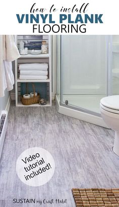 How To Install Floating Vinyl Plank Flooring Around A Toilet Youtube