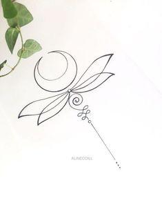39 Trendy Ideas For Tattoo Lotus Unalome Symbols Trendy Tattoos, Mini Tattoos, Sexy Tattoos, Body Art Tattoos, Small Tattoos, Tattoos For Women, Tatoos, Unalome Tattoo, Dragonfly Tattoo Design