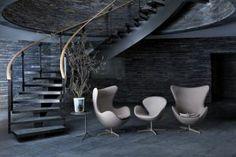 Swan chair (cygne), Arne Jacobsen, Fritz Hansen HOMEtimisation.fr