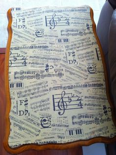 I could build a new piano bench, find some material like this and have my new piano note piano bench! Such a cool idea!