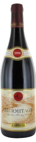 E. Guigal Hermitage rouge 2006 - Hermitage ou Ermitage - 16/20 : Un bel Hermitage serré, mais avec une petite suavité, belle longueur, de la structure, finale fraîche, jolis tannins très élégants. S'il n'a pas la puissance du 2005, il possède de la grâce.  En savoir plus : http://avis-vin.lefigaro.fr/vins-champagne/vallee-du-rhone/nord-septentrional/cote-rotie/d10661-e-guigal/v10674-e-guigal-hermitage/vin-rouge/2006#ixzz3PHFTDac1