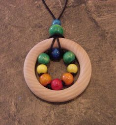 """Zúbky Sensory Teething Necklace for Natural Nursing Breastfeeding Babywearing Mamas """"Stephen's Legos"""" Teething Jewelry, Teething Necklace, Teething Toys, Breastfeeding Necklace, Nursing Necklace, Quilted Ornaments, Natural Baby, Baby Wearing, Wooden Beads"""