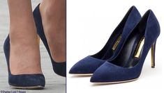 Kate accessorized with her Rupert Sanderson Malory heels (£425).
