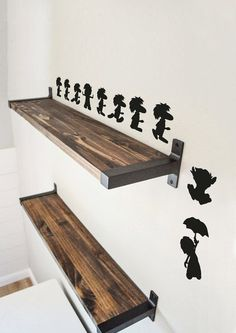 Add a touch of video gaming nostalgia to your room with this set of Lemming inspired wall decals. I LOVED playing this game growing up! Placed similar to