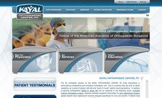 Web design for Doctor Kayal's Orthopaedic services.