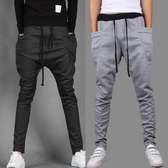 >> Click to Buy << Fashion Baggy Tapered Bandana Pants Hip Hop Dance Drop Crotch Harem Sweatpants Men Parkour Track Trousers Joggers #Affiliate