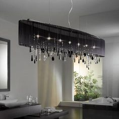 Bathroom Chandeliers Black niagara chandelier - medium sp h/236 | chandeliers, modern and lights