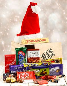 Selection of Chocolates in a Crate Toblerone, Man Crates, Same Day Delivery Service, Chocolates, The Selection, Christmas Gifts, Seasons, Gift Ideas, Xmas Gifts