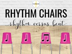 Kids love the rhythm chairs game, and it's great for teaching rhythm versus beat. This post includes great tips for teaching the game and making it work for any elementary music classroom.