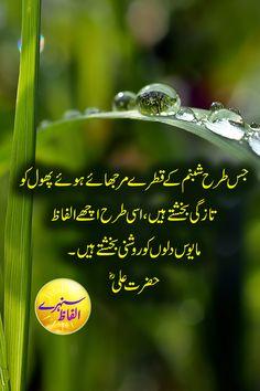 Insan Kis Waqt Haarta Hain l Hazrat Ali Quotes in Urdu l Best Urdu Quotes of Hazrat Ali Sayings Hazrat Ali Sayings, Imam Ali Quotes, Sufi Quotes, True Quotes, People Quotes, Urdu Quotes Islamic, Inspirational Quotes In Urdu, Islamic Teachings, Islamic Dua