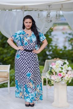 Plus Size Maxi-Lenght Dress by BeIn16.com