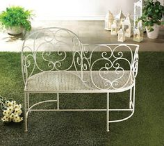 Sweetheart Iron Chairs | ... -Garden-Courting-Settee-Bench-Tete-a-Tete-S-Shaped-Conversation-Chair