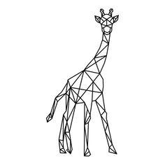 Giraffe M cm) Geometric Drawing, Geometric Art, Diy Embroidery Canvas, Hilograma Ideas, Giraffe Drawing, Nursery Accessories, Tattoo Flash Art, Paper Animals, Line Tattoos