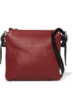 43731a38ca4d MM6 MAISON MARGIELA WOMAN TEXTURED-LEATHER SHOULDER BAG RED.  #mm6maisonmargiela #bags #shoulder bags #leather #