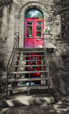 RED DOORS.  Rue.ST.Denis.  Montreal Red Doors, St Denis, Photos, City, Pictures, Photographs, City Drawing, Cities, Cake Smash Pictures