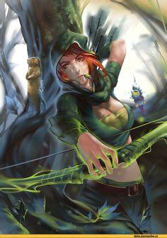 #Dota2 Lyralei the Windrunner,Dota,фэндомы,песочница,Dota Art