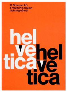 "Helvetica, Max Miedinger — ""First learn a proper trade."" These were the words with which Max Miedinger's father put an end to the debate on the future career of his son, who longed to become a painter. Poster Fonts, Type Posters, Typography Poster, Typography Design, Lettering, Film Poster, Creative Typography, Movie Posters, Laurent Durieux"