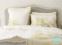 Honeysuckle Trail Camomile Yellow Cotton Duvet Cover